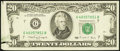 Error Notes:Foldovers, Fr. 2077-G $20 1990 Federal Reserve Note. Extremely Fine.. ...