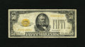 Small Size:Gold Certificates, Fr. 2404 $50 1928 Gold Certificate. About Fine.