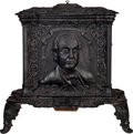 Political:3D & Other Display (pre-1896), Lewis Cass: A Wonderful Cast Iron Stove from the 1848 Presidential Campaign....
