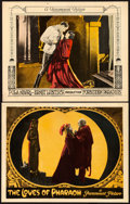 "Movie Posters:Drama, The Loves of Pharaoh and Other Lot (Paramount, 1922). Lobby Cards(2) (11"" X 14"").. ... (Total: 2 Items)"