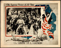 "Movie Posters:Drama, The Birth of a Nation (United Artists, R-1920s). Lobby Card (11"" X14"").. ..."