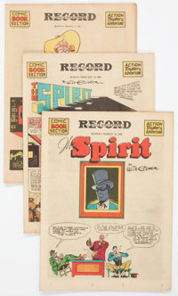 The Spirit (weekly newspaper insert) Group of 4 (Various Publishers, 1941) Condition: Average VF.... (Total: 4 Comic Boo...