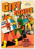 Golden Age (1938-1955):Superhero, Gift Comics #3 (Fawcett Publications, 1949) Condition: FN-....
