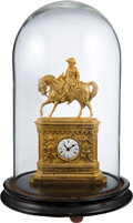 Political:3D & Other Display (pre-1896), Zachary Taylor: A Stunning Gilt Clock Depicting Him on Horseback....