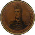 Political:3D & Other Display (pre-1896), Andrew Jackson: A Superb Papier Mâché Snuff Box Issued asPresident....