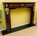 Furniture , An American Beaux Arts Gilt Bronze Mounted Mahogany Fireplace Mantle, early 20th century. 47 h x 57 w x 12 d inches (119.4 x...