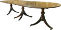 Furniture , An English George III-Style Mahogany Banquet Table, late 19th-early 20th century. 29 h x 46 w x 132 d inches (73.7 x 116.8 x... (Total: 5 Items)