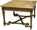Furniture , A Continental Inlaid Square Table, 19th century and later. 28 h x 39 w inches (71.1 x 99.1 cm). ...