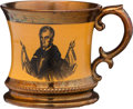 Political:3D & Other Display (pre-1896), William Henry Harrison: A Scarce Copper Luster Mug....