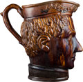 Political:3D & Other Display (pre-1896), Zachary Taylor: Magnificent, Massive circa 1847-1850 RockinghamBennington Pottery Pitcher....