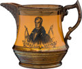 Political:3D & Other Display (pre-1896), William Henry Harrison: A Very Rare Style of Copper Luster Creamer....