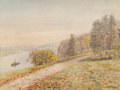 Paintings, Marie François Firmin-Girard (French, 1838-1921). Le remorqueur. Oil on canvas. 18-1/8 x 24 inches (46.0 x 61.0 cm). Sig...