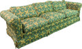 Furniture , An Upholstered Three-Seat Sofa, 20th century. 30 h x 94 w x 34 d inches (76.2 x 238.8 x 86.4 cm). ...