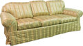 Furniture : Continental, An Upholstered Sofa, 20th century. 31 h x 86 w x 31 d inches (78.7x 218.4 x 78.7 cm). ...