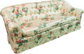 Furniture , An Upholstered Floral Sofa, 20th century. 32 h x 81 w x 37 d inches (81.3 x 205.7 x 94.0 cm). ...