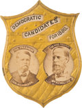 Political:Ferrotypes / Photo Badges (pre-1896), Hancock & English: Simply the Best Jugate Badge for this Tough1880 Ticket....