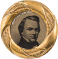 Political:Ferrotypes / Photo Badges (pre-1896), Stephen A. Douglas: Awesome, Virtually Mint 1860 Shank Button withLarge Ferro Portrait....