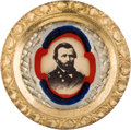 Political:Ferrotypes / Photo Badges (pre-1896), Ulysses S. Grant: A Gorgeous Photo Badge, Presumably from 1868....
