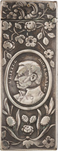 Political:3D & Other Display (pre-1896), Zachary Taylor: Unique Silver Campaign Match Safe....