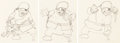 Animation Art:Production Drawing, The Klondike Kid Animation Drawing Group of 3 (Walt Disney,1932).... (Total: 3 )
