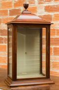 Furniture, A George III-Style Mahogany Hanging Vitrine Cabinet, early 20th century. 38 h x 21 w x 12 d inches (96.5 x 53.3 x 30.5 cm). ...