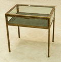Furniture , A Glazed Bronze Vitrine Table, 20th century. 24 h x 24 w x 18 d inches (61.0 x 61.0 x 45.7 cm). ...