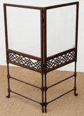 Furniture, A Chippendale-Style Chinoiserie Mahogany Fire Screen, early 20th century. 44 h x 42 w x 1 d inches (111.8 x 106.7 x 2.5 cm)...