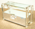 Furniture , A Modern Lucite and Mirrored Bar Stand, late 20th century. 18-1/4 h x 20-1/4 w x 12-1/4 d inches (46.4 x 51.4 x 31.1 cm). ...
