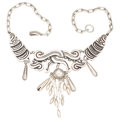 Estate Jewelry:Necklaces, Mexican Silver Necklace, William Philip Spratling. ...