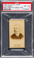 Baseball Cards:Singles (Pre-1930), 1887 N172 Old Judge Cap Anson (Street Clothes) PSA NM-MT 8 - TheHighest Graded Example in the Hobby, Pop One!...