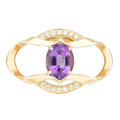 Estate Jewelry:Other, Amethyst, Diamond, Gold Pearl Shortener. . ...