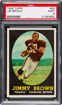1958 Topps #62 Jim Brown PSA MINT 9