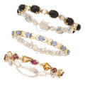 Estate Jewelry:Bracelets, Multi-Stone, Diamond, Gold Bracelets. . ... (Total: 3 Items)