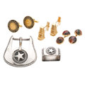 Estate Jewelry:Lots, Gentleman's Agate, Gold, Sterling Silver Jewelry. . ... (Total: 8 Items)