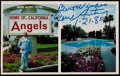 Baseball Collectibles:Others, 1980 Gene Autry Signed Postcard from The Stan Musial Collection....