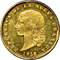 Colombia, Colombia: Republic gold 10 Pesos 1858-POPAYAN MS66+ ★ NGC,...