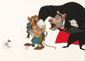Animation Art:Production Cel, The Great Mouse Detective Flaversham, Olivia, and RatiganProduction Cel (Walt Disney, 1986)....