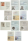Baseball Collectibles:Others, 1960's-2000's Stan and Lillian Musial Signed Passports Lot of11....