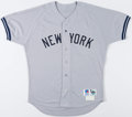 Baseball Collectibles:Uniforms, 1997 Mel Stottlemyre Game Worn New York Yankees Coach's Jersey....