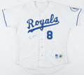 Baseball Collectibles:Uniforms, 1995 Bob Boone Game Worn, Signed Kansas City Royals Jersey....