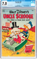Golden Age (1938-1955):Cartoon Character, Four Color #386 Uncle Scrooge (Dell, 1952) CGC FN/VF 7.0 Cream to off-white pages....