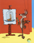 "Animation Art:Limited Edition Cel, Wile E. Coyote ""Coyote Painter"" Limited Edition Cel Artist's Proof#21/25 (Warner Brothers, 1982)...."