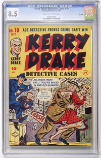 Kerry Drake Detective Cases #10 - File Copy (Harvey, 1948) CGC VF+ 8.5 Cream to off-white pages