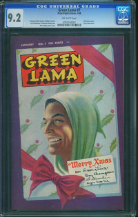 Green Lama #7 (Spark Publications, 1946) CGC NM- 9.2 Off-white pages