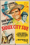 """Movie Posters:Western, Sioux City Sue (Republic, 1946). One Sheet (27"""" X 41""""). Western....."""