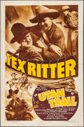 "Movie Posters:Western, Utah Trail (Grand National, 1936). One Sheet (27"" X 41""). Western....."