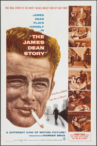 """The James Dean Story (Warner Bros., 1957). Folded, Very Fine. One Sheet (27"""" X 41""""). Documentary"""