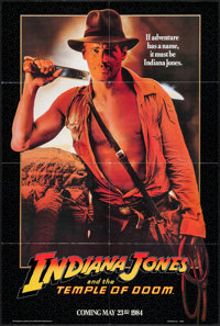 """Indiana Jones and the Temple of Doom (Paramount, 1984). One Sheet (27"""" X 40"""") Advance Black Border Style. Adve..."""