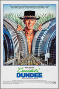 "Movie Posters:Adventure, Crocodile Dundee (Paramount, 1986). Autographed One Sheet (27"" X41""). Adventure.. ..."