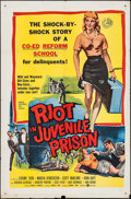 "Movie Posters:Exploitation, Riot in Juvenile Prison (United Artists, 1959). One Sheet (27"" X41""). Exploitation.. ..."